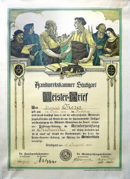 Meisterbrief_Moses_1930